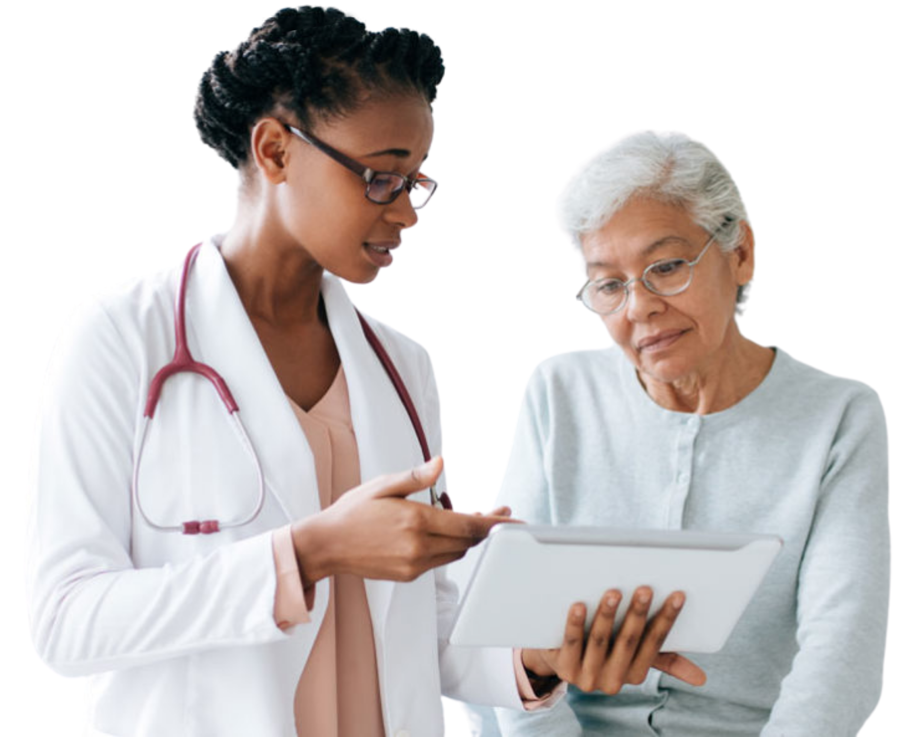 Doctor explaining information to a patient